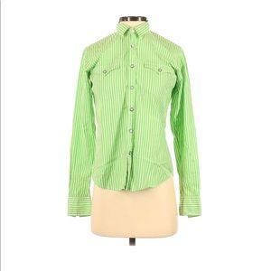 Ralph Lauren western snap-front shirt green size 4